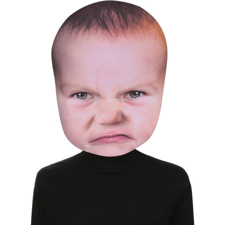 Baby Angry Face Mask Adult Halloween Accessory - Halloween Silicone Face Masks