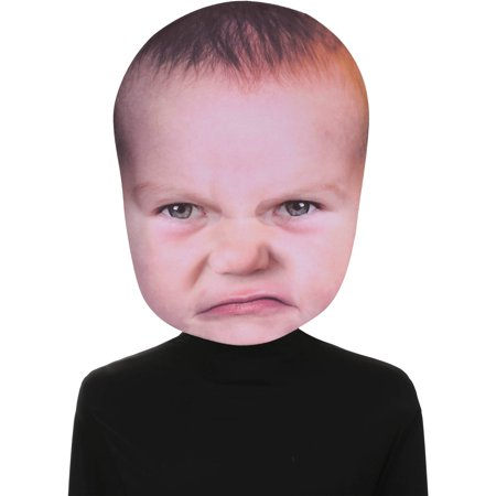 Baby Angry Face Mask Adult Halloween - Halloween Cut Out Face Masks