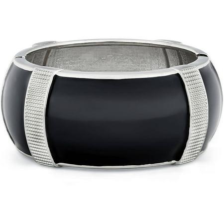 Fitbit Black Enamel Textured Enhancer Bangle Bracelet For Fitbit Charge