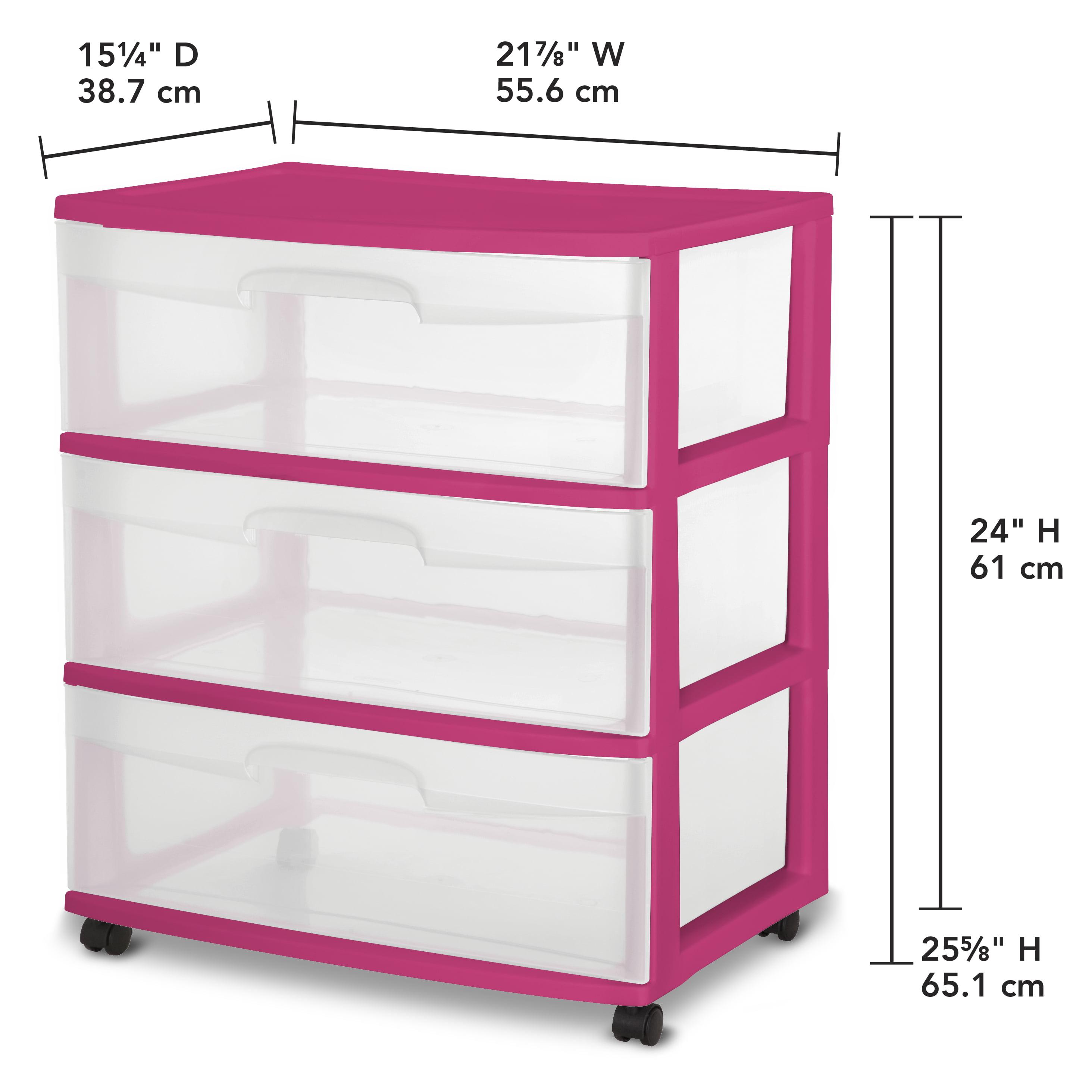 Etonnant 3 Drawer Storage Cart Organizer Rolling Home Sterilite Box Plastic Wide  Cabinet