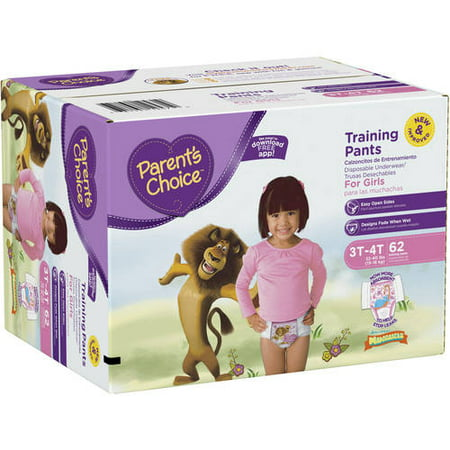 Parents Choice Training Pants For Girls  Choose Pant Size And Count