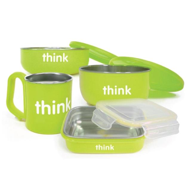 Thinkbaby HG1236850 Feeding Set BPA Free, Green by Thinkbaby
