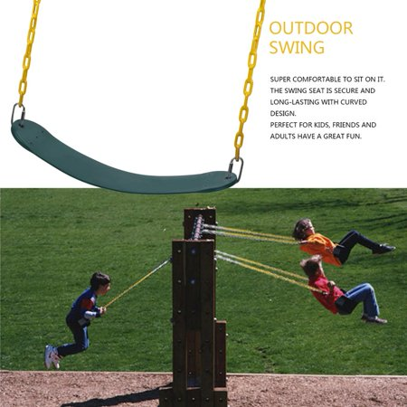 Jungle Gym Swing Seat Playground Outdoor Swingset Accessories Replacement Hanger Chain Kids Children Belt Green