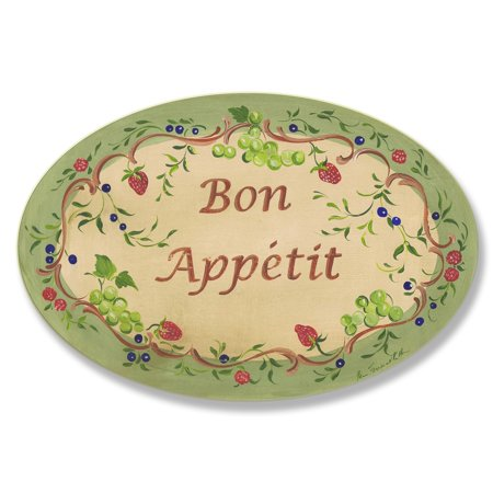 Bon Voyage Signs (Stupell Green and Red Bon Appetit Oval Wall)