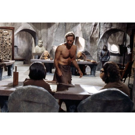 (Kim Hunter Roddy Mcdowall Charlton Heston Planet Of The Apes Trial 24x36 Poster)