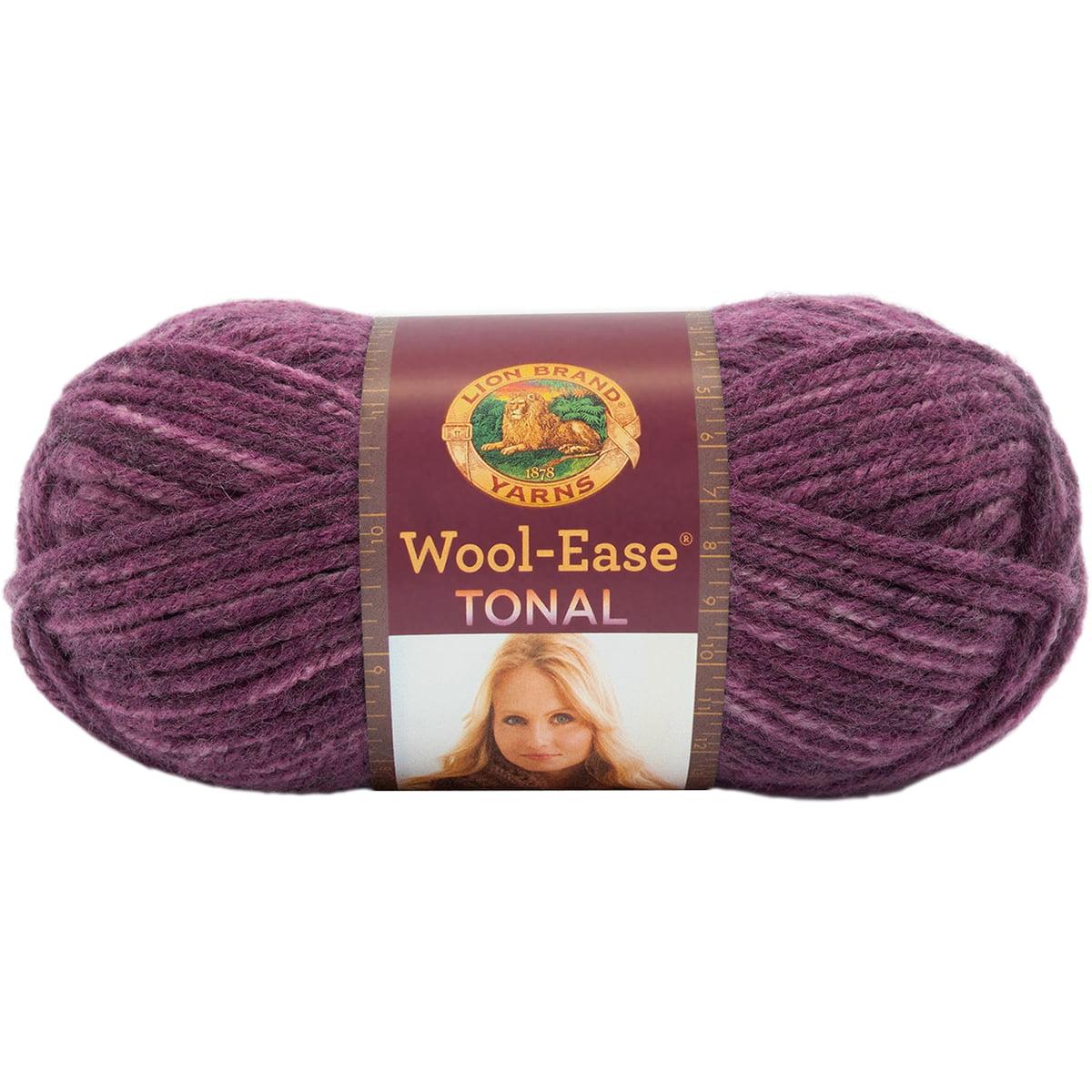 Lion Brand 635-145 Wool-Ease Tonal Yarn-Plum