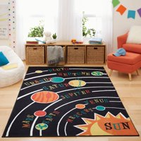 Mohawk Home Kids Interactive Solar System Printed Area Rug