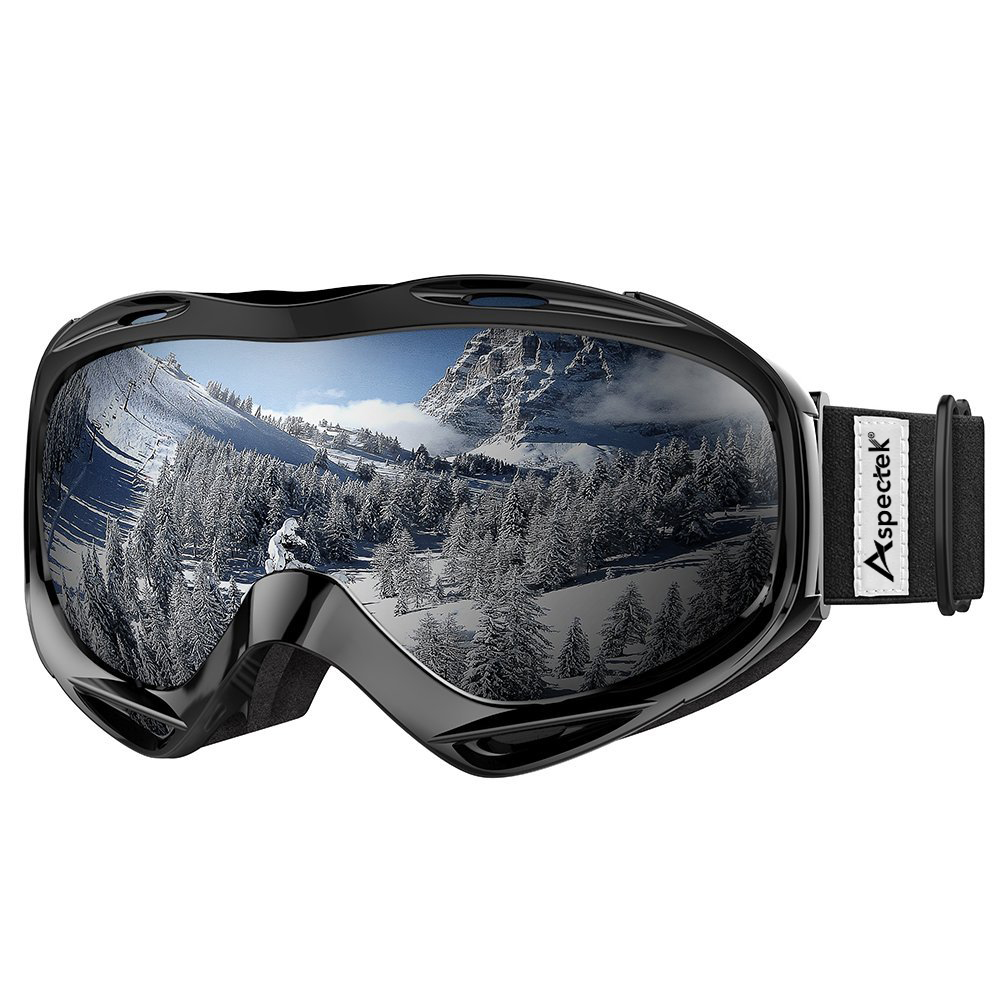 Aspectek OTG Ski Goggles Over Glasses Ski   Snowboard Goggles for Men, Women & Youth 100% UV Protection by