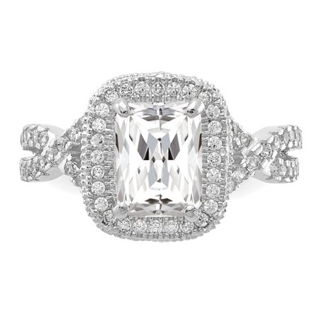 10k White Gold Cubic Zirconia Cz Band Ring Size 7.00 Fine Jewelry Gifts For Women For Her - image 2 of 9