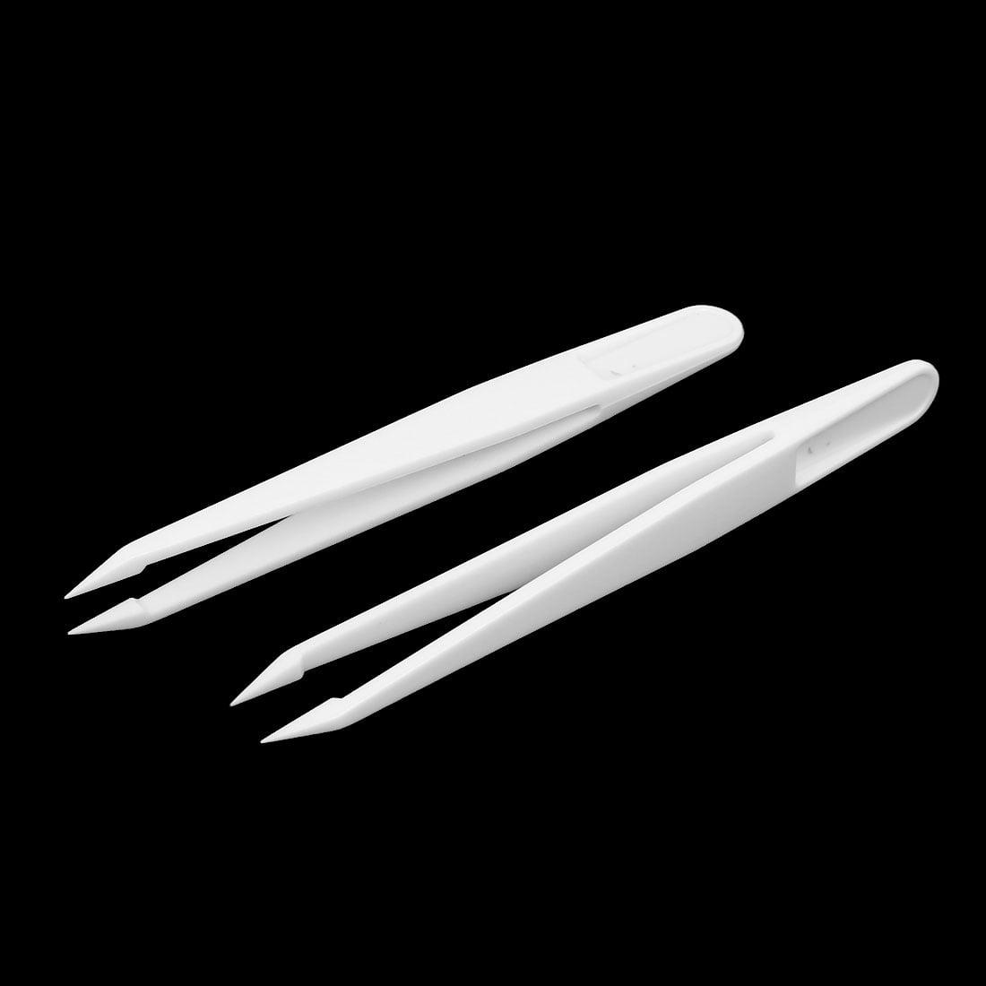 Plastic Pointed Tip Anti-static Tweezers Repairing Hand Tool 115mm Long 5pcs - image 1 de 3