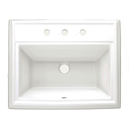 American Standard 0700.008.020 Town Square Self-Rimming Bathroom Sink w/ Faucet Spacing in White