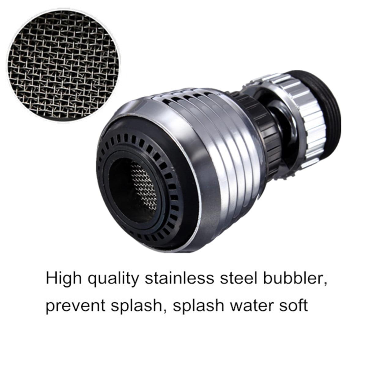 360° 2 modes Aerator Water Bubbler Head Saving Tap Spray Aerator ...