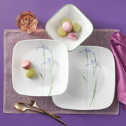 Corelle Square Shadow Iris 16-Piece Dinnerware Set
