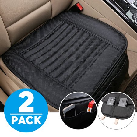 Season Car Seat Cover (TSV Car Seat Cushion, Car Seat Covers Car Interior Seat Covers Pad Mat Bamboo Charcoal Breathable Comfortable Seat Covers, Anti-skid Leather Four Seasons General Car Seat Protector )