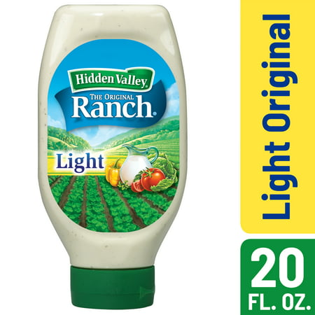 (2 Pack) Hidden Valley Easy Squeeze Original Ranch Light Salad Dressing & Topping, Gluten Free - 20 Oz (Best Store Bought Ranch Dressing)