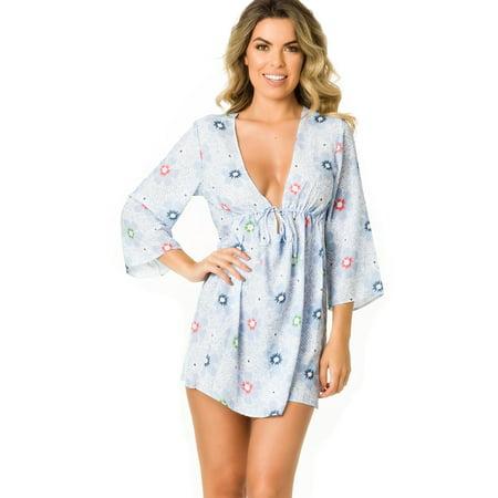 a399de9984 COQUETA SWIMWEAR - Coqueta Swimwear Women Mesh Chiffon Sexy Beach Wear  Swimsuit Cover UpS Shirt Dress - Walmart.com