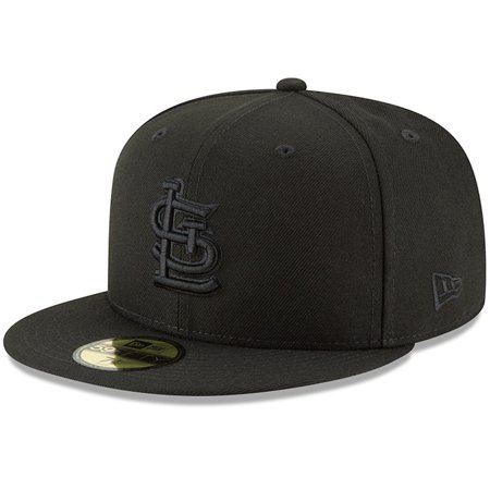 St. Louis Cardinals New Era Primary Logo Basic 59FIFTY Fitted Hat - Black