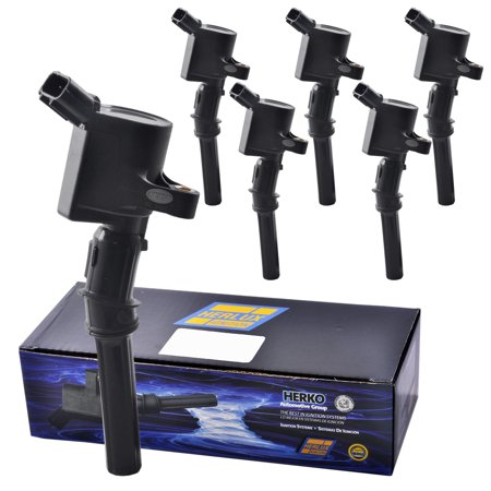 Set of 6 Herko B029 Ignition Coils For Ford Lincoln Mercury 2.3L 4.6L 5.4L 97-06