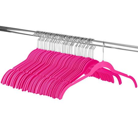 ShopoKus Velvet Hangers - 60 Pack Dress Hangers for Coats Jackets Clothes -