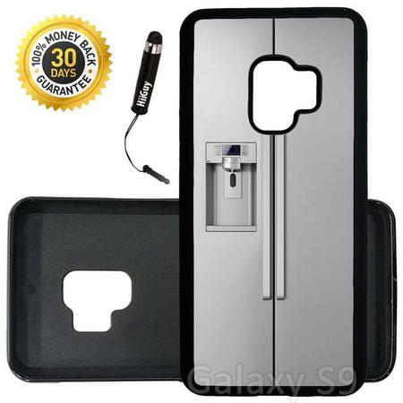 Custom Galaxy S9 Case (Funny Fridge Prank) Edge-to-Edge Rubber Black Cover Ultra Slim | Lightweight | Includes Stylus Pen by - Custom Fridge
