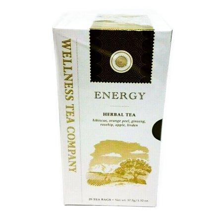 Ginseng Energy Wellness Tea - Wellness Tea Company ENERGY Herbal Tea 25 Tea Bags
