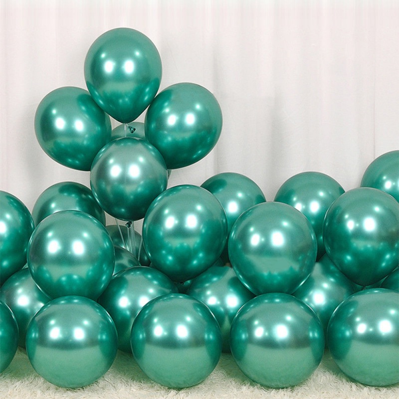 Metallic Dark Green Balloons for Party 50 pcs 12 inch Thick Latex Chrome balloons for Birthday Family Party Wedding Party Baby Shower Decoration Supplies