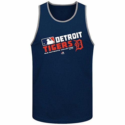 MLB Men's Majestic Authentic Collection Team Choice Tank Top (Medium, Detroit Tigers)