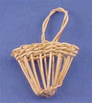 Dollhouse Hanging Wicker Basket