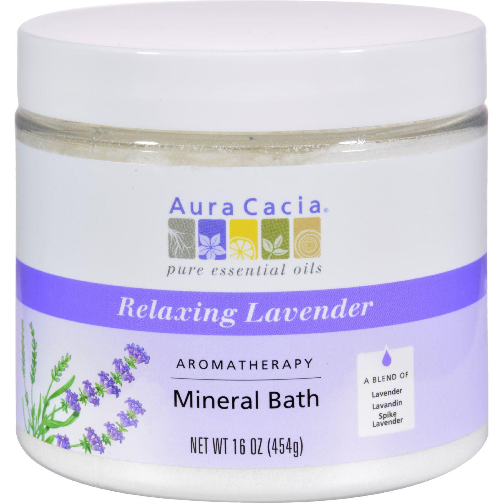 Aura Cacia Aromatherapy Mineral Bath Lavender Harvest - 16 oz