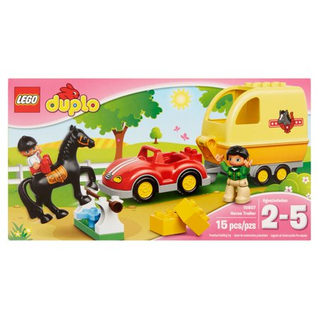 Lego Duplo Preschool Building Toy Horse Trailer 10807 Ages 2-5, 15 count