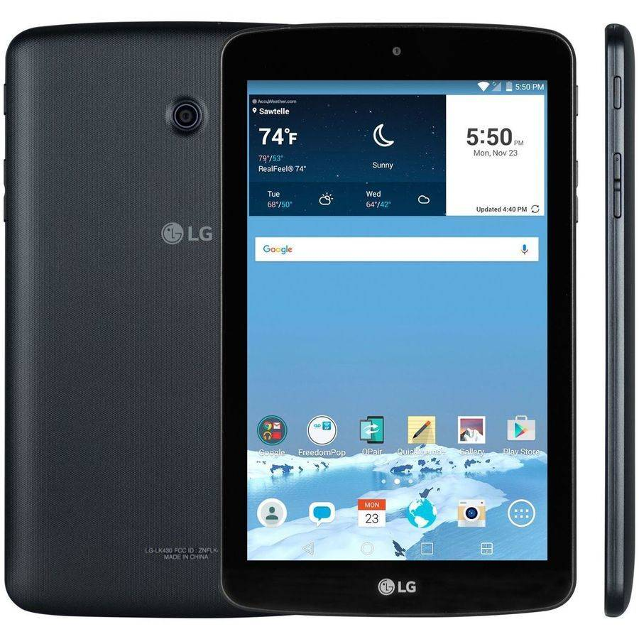 "Certified Preowned FreedomPop LG G Pad with WiFi/4G 7"" Touchscreen Tablet PC Featuring Android 5.0 (Lollipop) Operating System, Black"