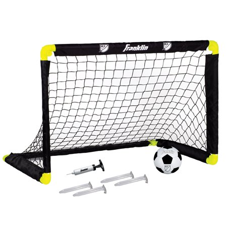 Franklin Sports 3 Foot Insta-Set Soccer Set (Includes Soccer Goal, Soccer Ball, Inflation Pump and 4