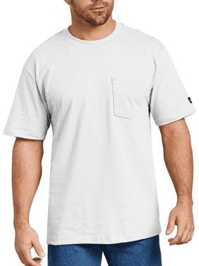 Genuine Dickies Men's and Big Men's Short Sleeve Heavy Weight Pocket T-Shirt, 2 Pack
