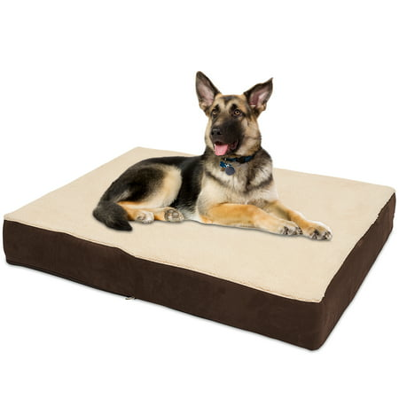 KOPEKS Jumbo XL Rectangular Orthopedic Memory Foam Dog Bed - Includes Waterproof Inner Protector & Removable Cover - (Dog Rectangular Bed)