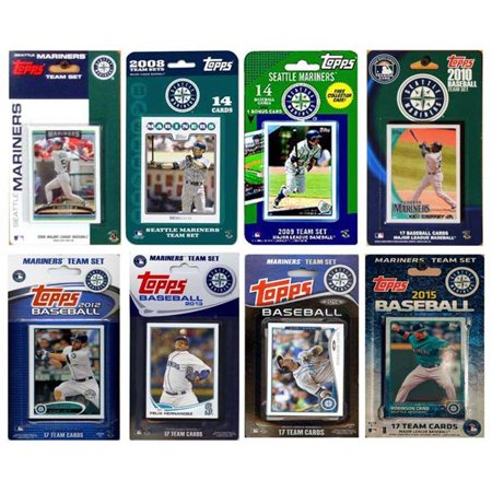 C&I Collectables MLB Seattle Mariners 8 Different Licensed Trading Card Team Sets