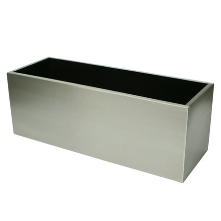 Algreen Stainless Steel Planter Trough 28 In Length By 10
