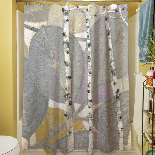 Manual Woodworkers & Weavers Birch Leaf I Shower Curtain