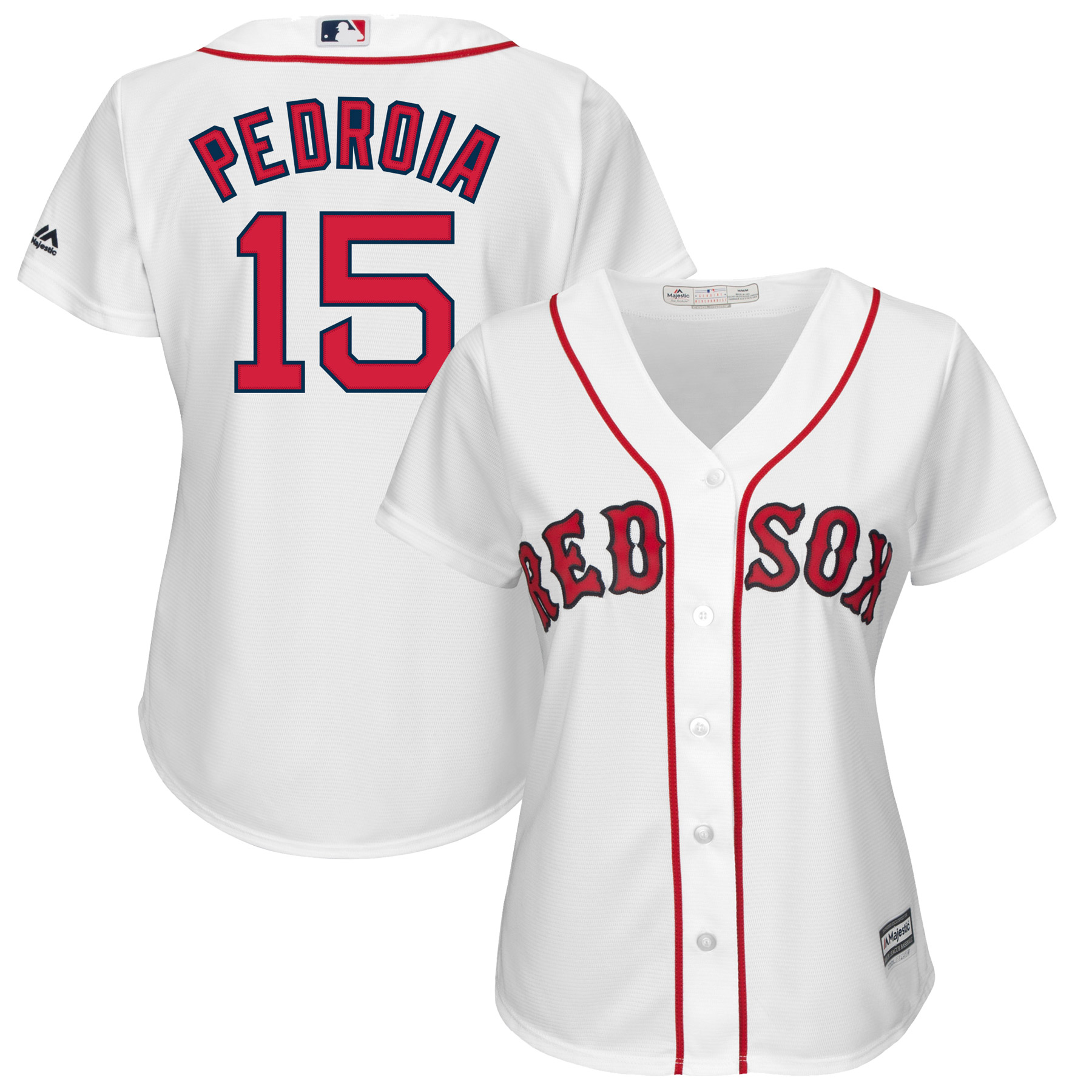 Dustin Pedroia Boston Red Sox Majestic Women's Cool Base Player Jersey - White