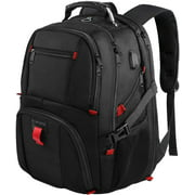Extra Large Backpack for Men, 50L Travel Backpack with USB Charging Port,TSA Friendly Business College Bookbags Fit 17 Inch Laptops,Black