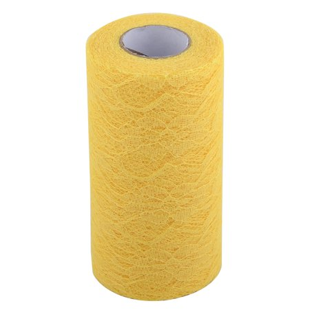 Home Party Lace Banquet Hall DIY Decor Tulle Spool Roll Yellow 6 Inch x 25 Yards - image 5 of 5