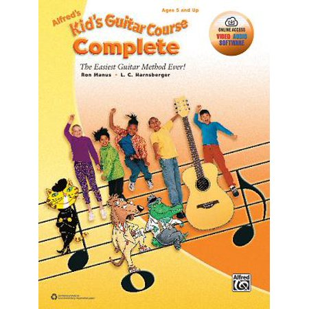 - Alfred's Kid's Guitar Course Complete: The Easiest Guitar Method Ever!, Book & Online Video/Audio/Software (Paperback)