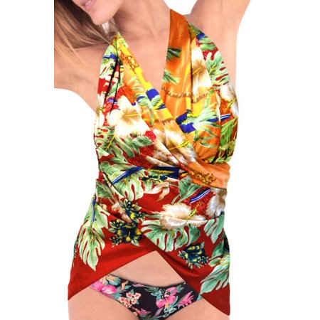 0465fc2e49 LA LEELA - Short Sarong Bikini Cover ups Wrap Skirt Swimsuit Swimwear  Beachwear Dress Scarf - Walmart.com