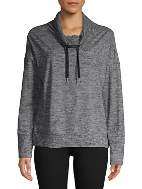 Cowl Neck Drawstring Sweatshirt