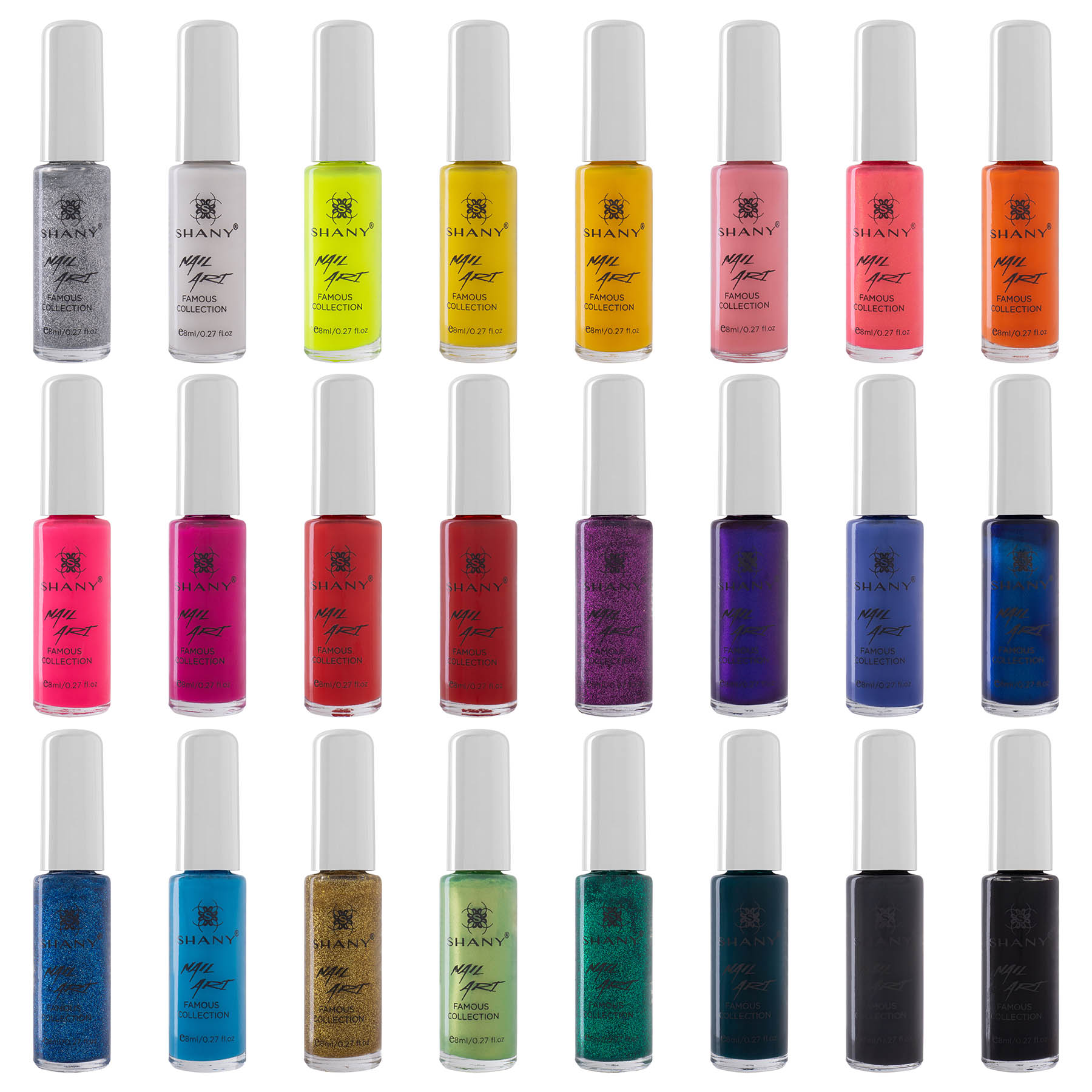 6634b32ad64a SHANY Nail Art Set (24 Famous Colors Nail Art Polish, Nail Art Decoration)