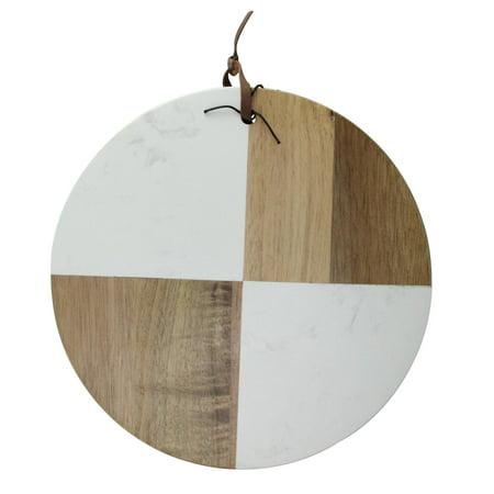 Gold Natural Wood Cheese Board - 9.5