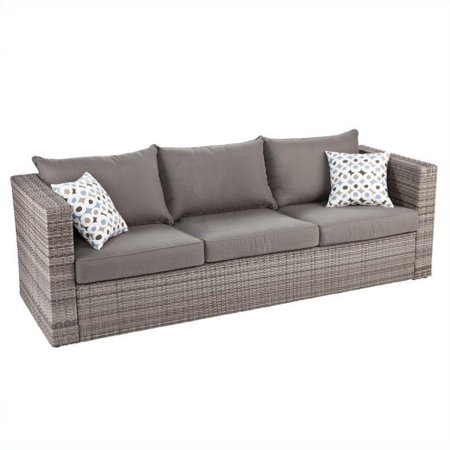Southern Enterprise Bristow Deep Seating Sofa Gray
