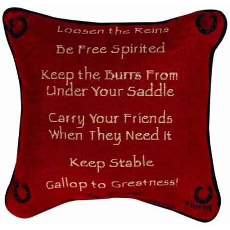 Western Throw Pillows (Manual Western Decor Collection Reversible Throw Pillow, 12.5 X 12.5-Inch, Advice from a Horse X Your True Nature, Reversible décor pillow By Manual)