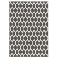 Mainstays Sheridan Ogee Textured Transitional Area Rug, Gray, 7'x10'