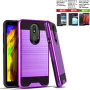 Phone Case For Tracfone LG Journey LTE Case / Walmart Family Mobile LG Journey case / Straight Talk Journey Case (L322DL) Shock absorbing Brush Cover (Slim Purple)