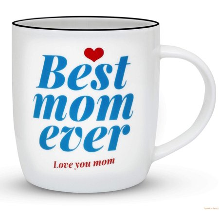 Mother's Day Mugs (Gifffted Mom Mug, Gifts For Mom, Christmas Gift For Best Mom Ever, Mother's Day Gift, 13 Ounce Coffee Mug, Ceramic)